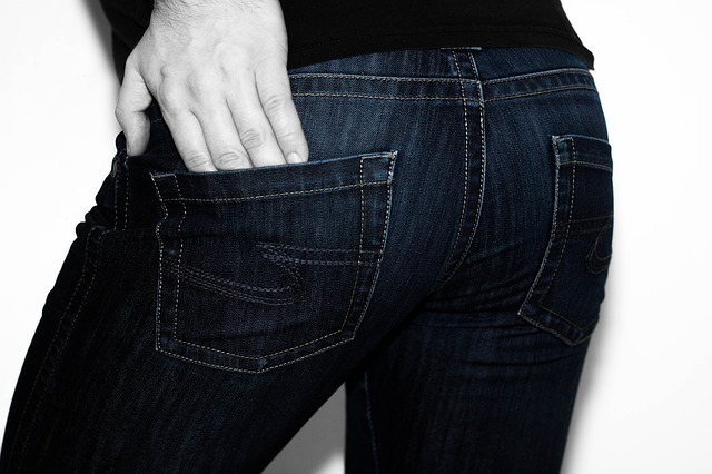 jeans derriere