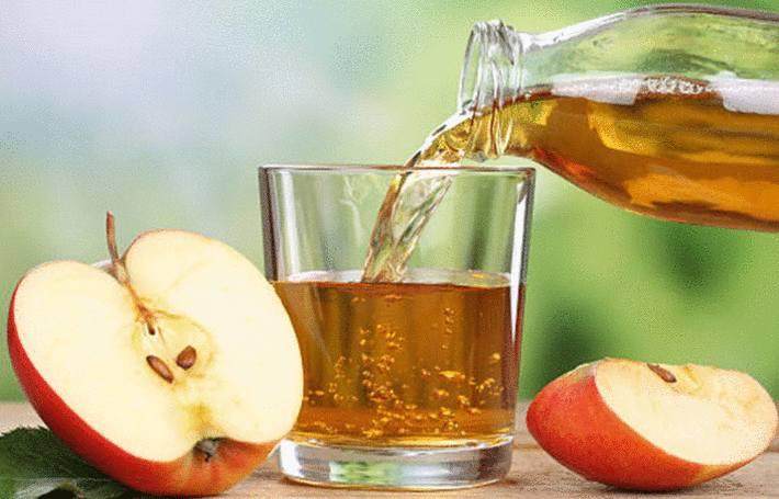 pomme verre vinaigre